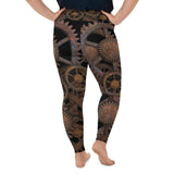 Steampunk Gears All-Over Print Plus Size Leggings