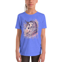 Majestic Unicorn Watercolor Art Youth Short Sleeve T-Shirt