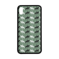 "Dressage Motif Rubber Case for Iphone XS Max (6.5"")"
