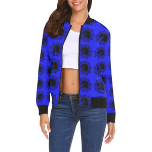 arabmand electric Cobalt Women's All Over Print Casual Jacket (Model H19)