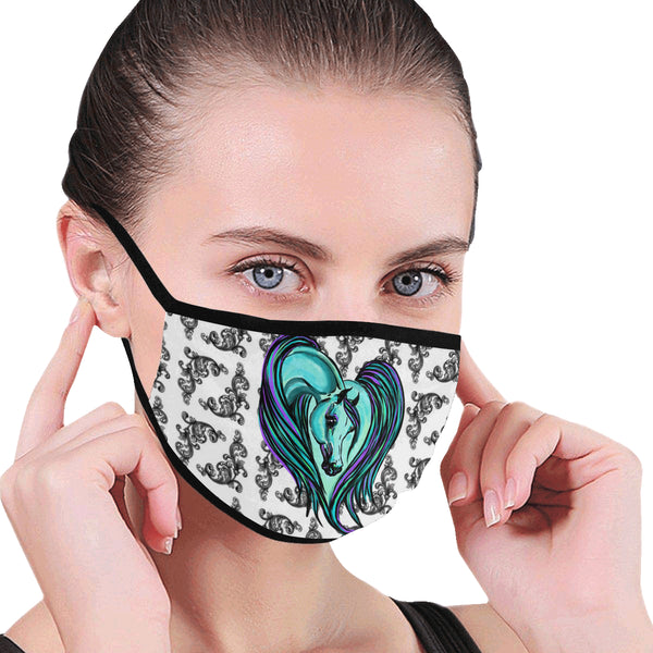 Arabian Horse Heart Face Covering Mask