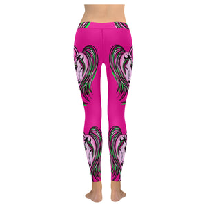 Arabian Horse heart leggings fuchsia