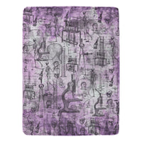 Mad Scientist Dr. Frankenstein Purple Ultra Soft Blanket