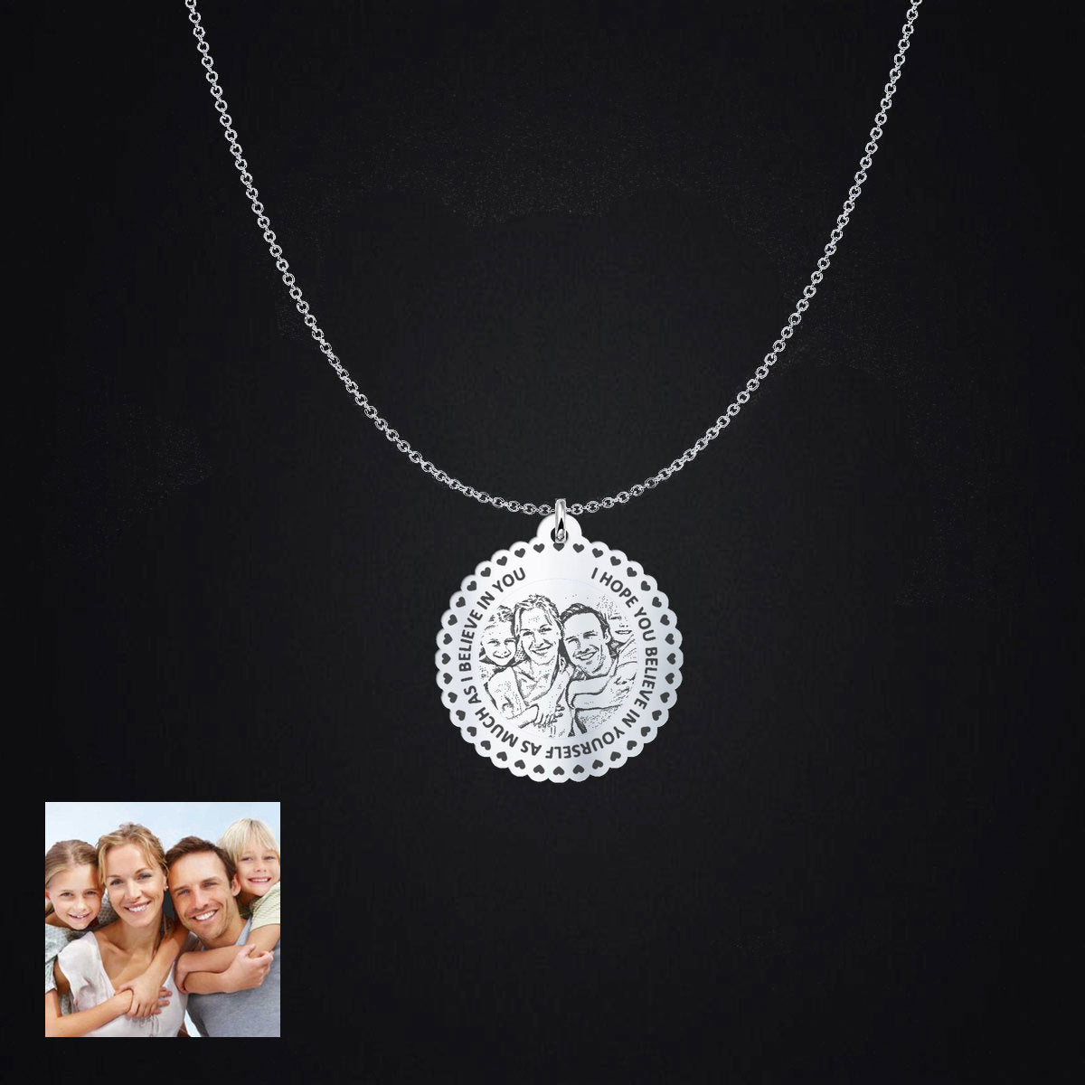 Photo Pendant I Believe In You