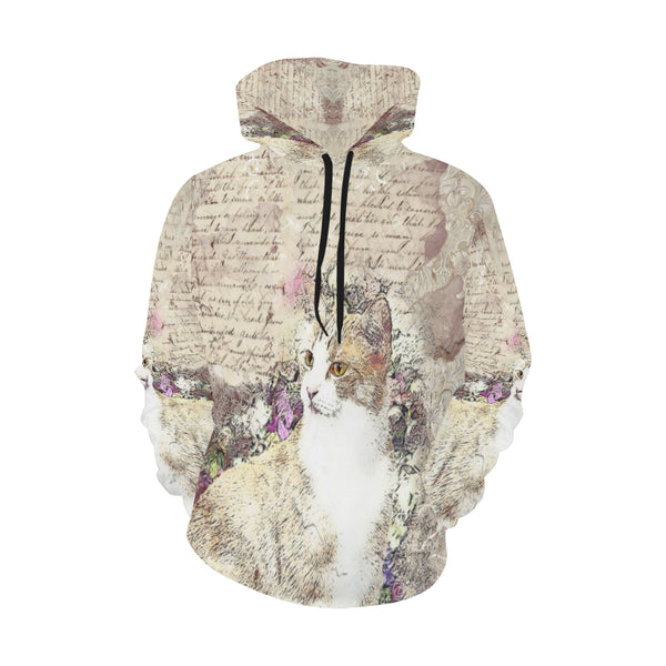Vintage Kitty Cat Hoodie Plus Size