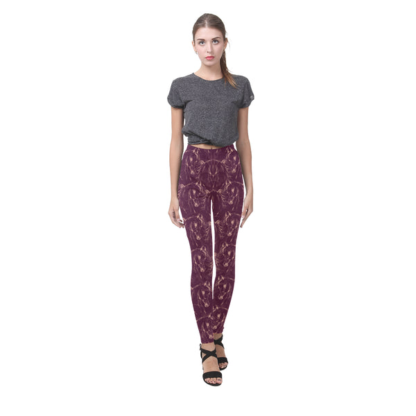 Arabian Horse Leggings Merlot