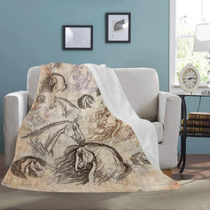 Vintage Horse Ultra Soft Micro Fleece Blanket