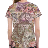 Vintage Equestrian Horse Fashion Ladies T-shirt