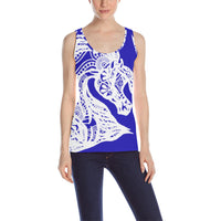 Arabian Horse White Tribal Lace Ladies Tank