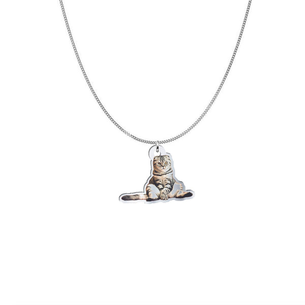 Sterling Silver Necklace of YOUR Cat, custom made for you!