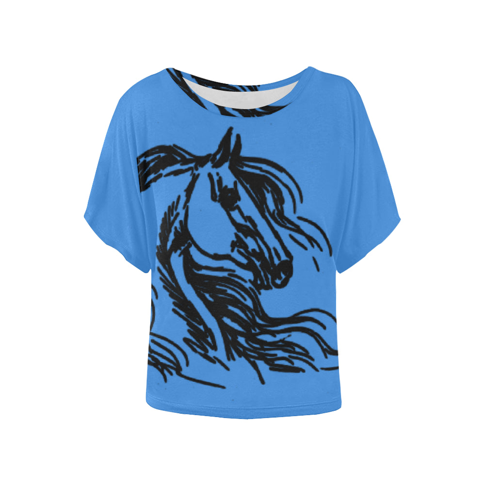 Beautiful Horse Ladies Blouse