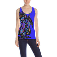 Mandala Horse Colorful ladies Tank