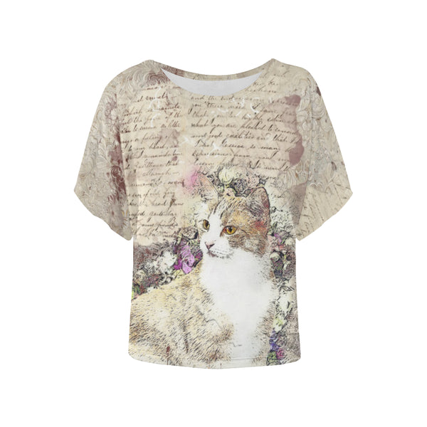 Vintage Kitty Cat Vintage Ephemera Victorian Blouse