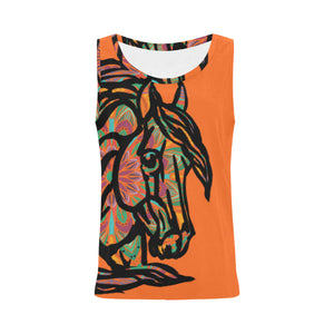 Mandala Colorful QH Orange Women's All Over Print Tank Top (Model T43)
