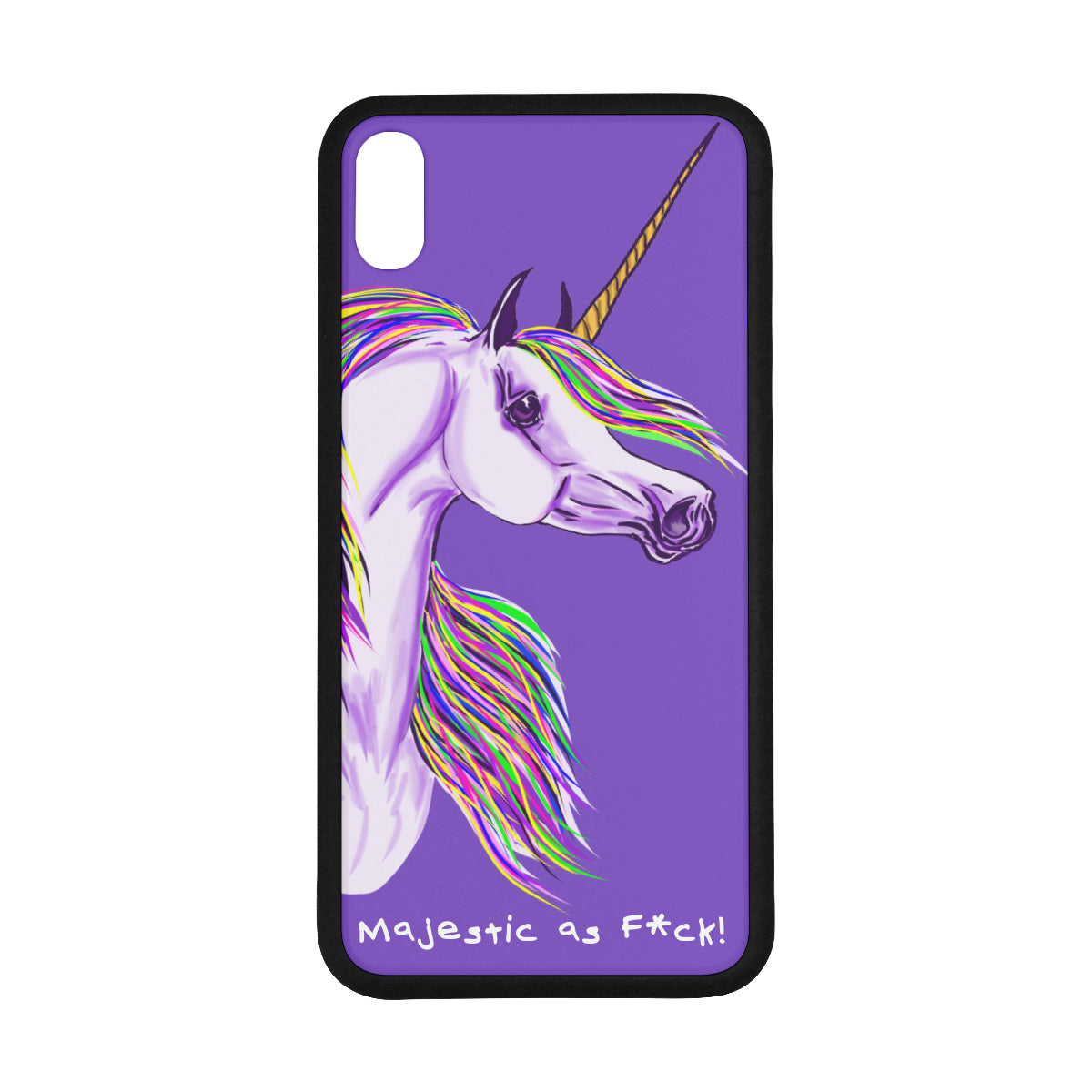 "Unicorn Majestic AF Iphone XS Max 6.5"" Cell Phone Case"