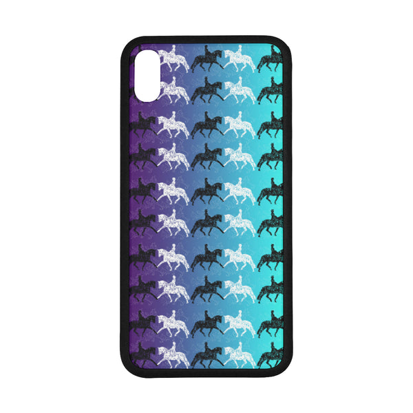 "Dressage Horse purple & teal  Iphone XS Max (6.5"") Case"