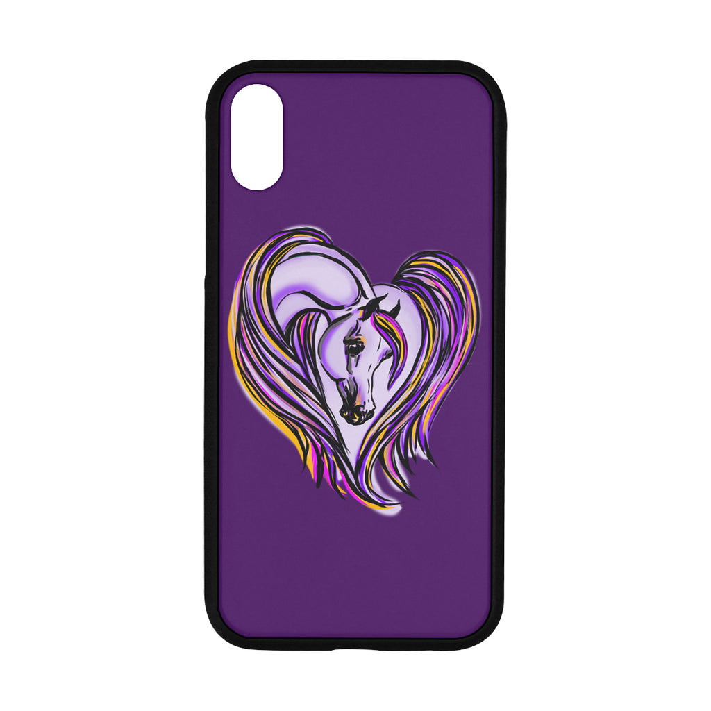 Arabian Horse Heart Rubber Case Iphone XR 6.1""