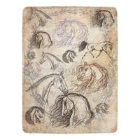 Ultra Soft Vintage Horse Micro Fleece Blanket