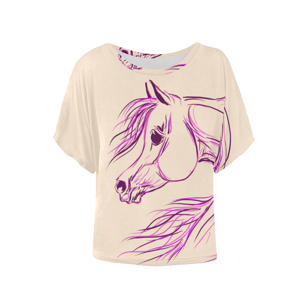Exotic Arabian Horse Ladies Blouse