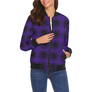 arabmand electric royal Women's All Over Print Casual Jacket (Model H19)