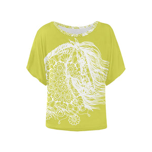 Dream Horse Mandala White lace Ladies Blouse