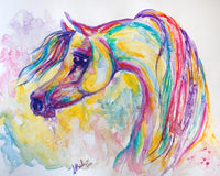 Original Watercolor Painting Arabian Horse