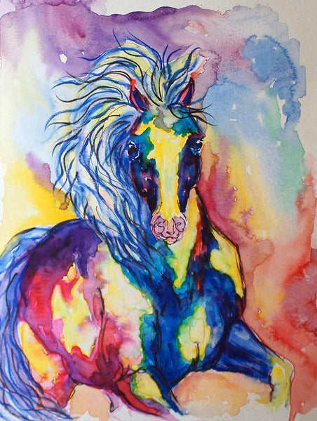 Original Paint Horse Watercolor Painting
