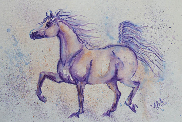 Chonky Pony Watercolor painting