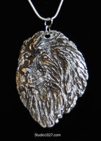 Memorial Custom Pet Jewelry Portrait in PRECIOUS METAL
