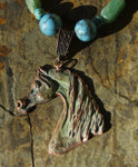 Patina Copper Arabian Horse Necklace