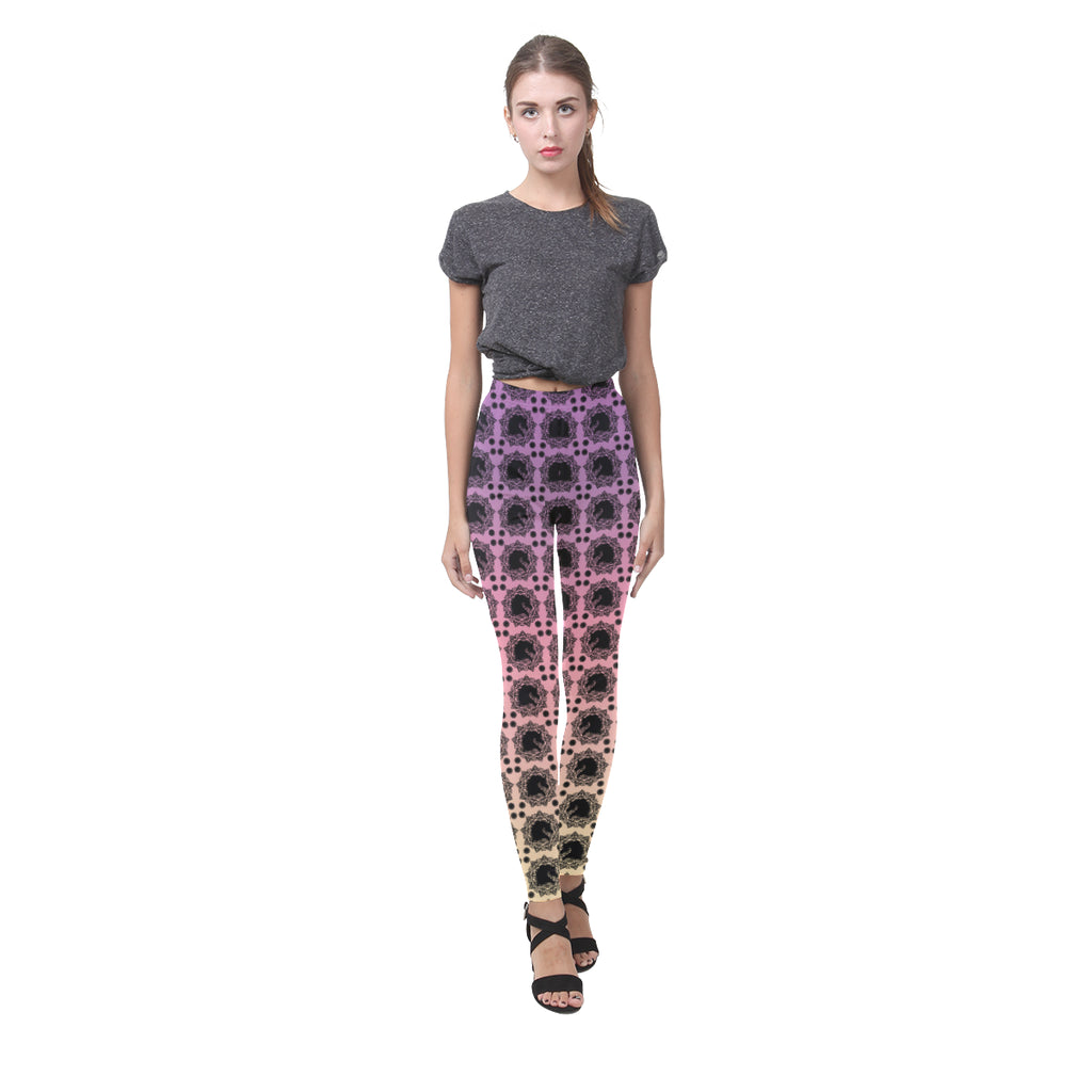 Arabian Horse Mandala Leggings Multi Color
