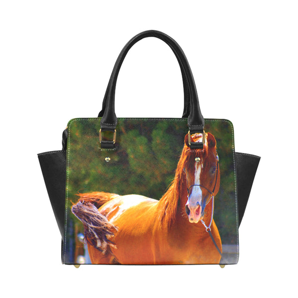 YOUR HORSE or PET on a personalized Leather Hand Bag
