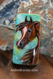 Hand Painted Domino Pendant of YOUR HORSE or ANIMAL