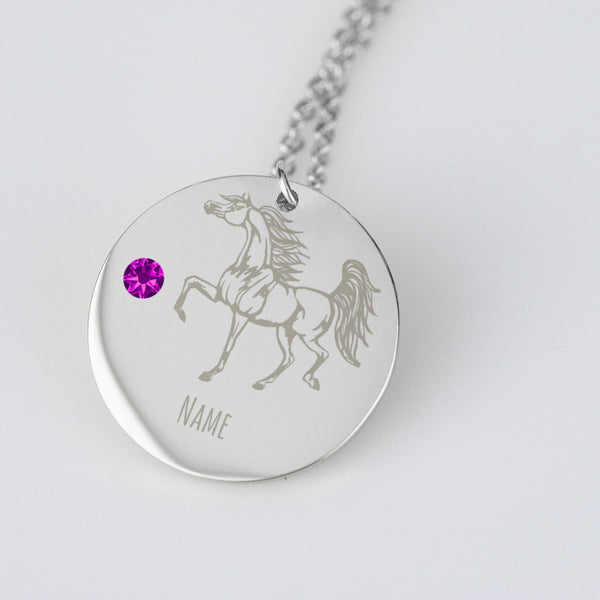 Personalized Arabian Horse Pendant Memorial