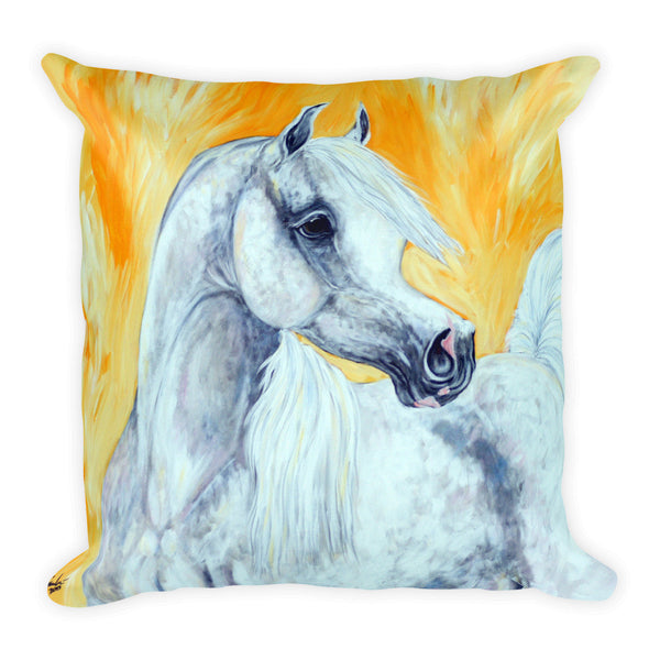 Grey Arabian Horse Pillow