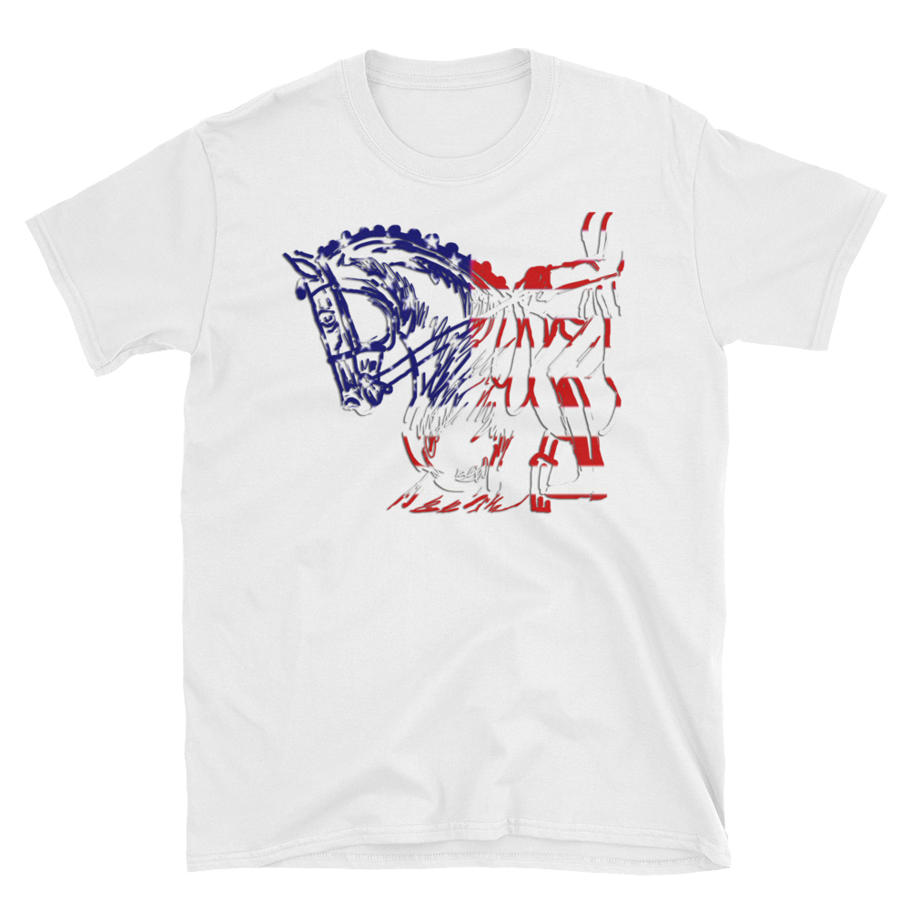 Patriotic Dressage Horse and Rider Classic T-shirt