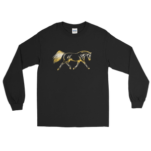 Sport Horse Dark Long Sleeve T-Shirt S-5xl
