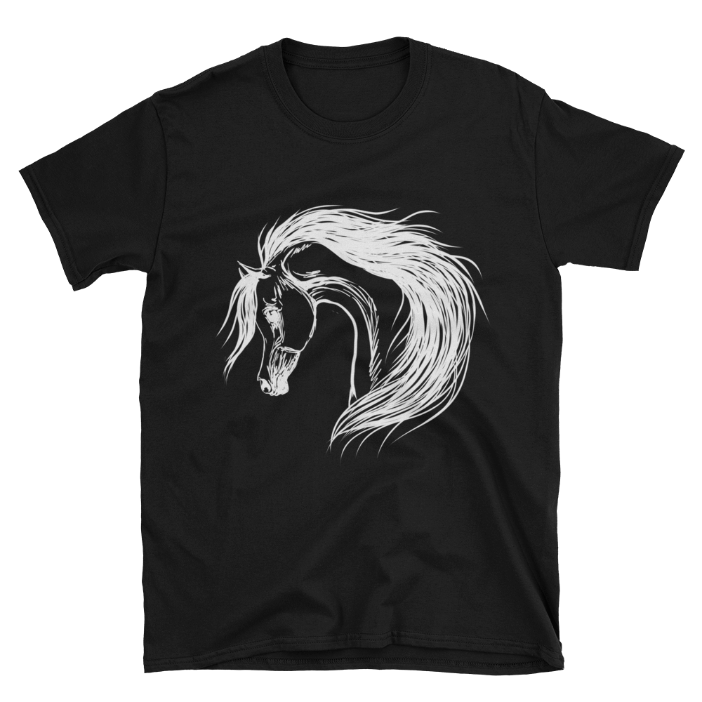 Arabian Horse Value Dark Short-Sleeve Unisex T-Shirt