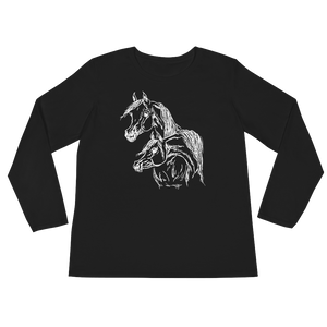 Arabian Horse Luxury Tailored Ladies' Long Sleeve T-Shirt