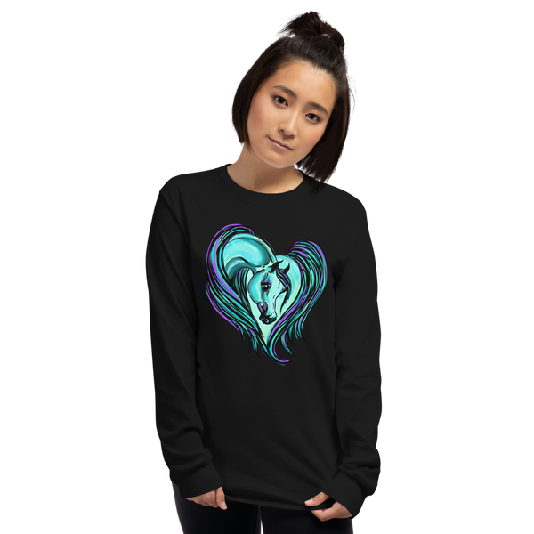 Arabian Horse Heart Long Sleeve Shirt