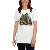 Scary Dinosaur Tearing Short-Sleeve Unisex T-Shirt