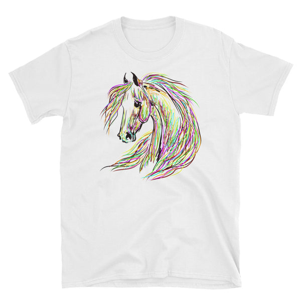 Colorful and Wild Horse Unisex T-Shirt