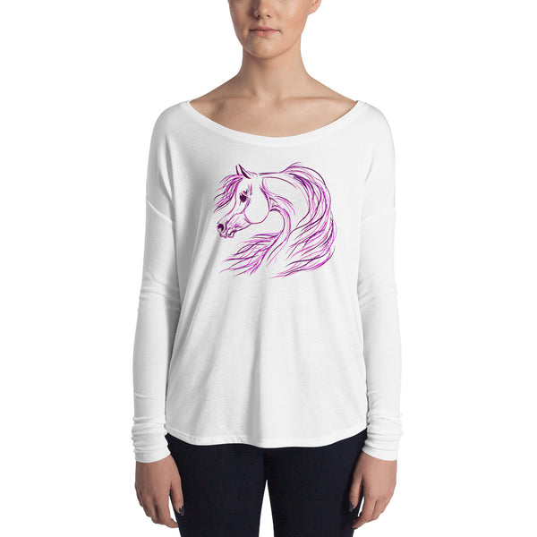 Perfectly Pretty Arabian Horse Ladie's relaxed Long sleeve Tee