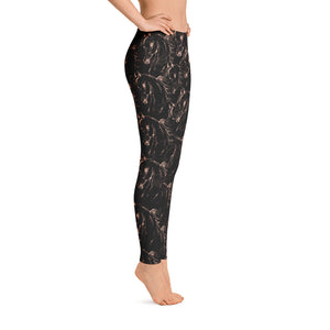 Arabian Horse Print Black Leggings