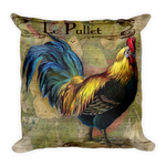 Le Pullet Rooster Pillow