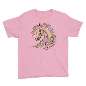 Wild and Colorful Horse Youth T-Shirt