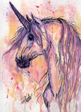 Unicorn Water Color Print 12x18 inches