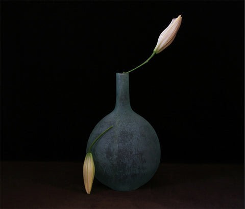 "2 Lily Buds, photographer Julia Sent, Fine art photograph, archival pigment print, 18x24"" (edition of 15) Ottawa art gallery"
