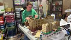 Meghan hard at work in the workshop