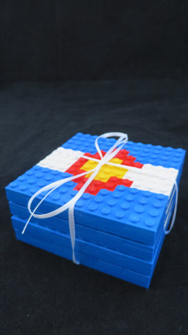 Colorado Flag Coasters made with LEGO® elements